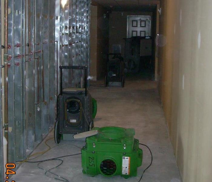 SERVPRO dryers at work