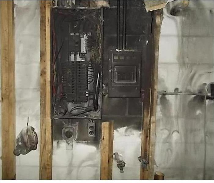 Breaker Box Fire Due To Overloaded Circuits
